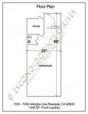 Floor plan of commercial space located at 7010, 7020, 7030 Arlington Ave, Riverside, CA, 92503