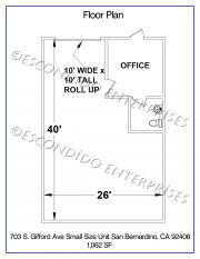 Small Unit, Floor Plan