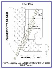 Hospitality, Floor Plan, 165 - 23, Exist