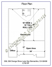 Floor Plan of 336, 338 orange show lane, San Bernardino, CA 92408
