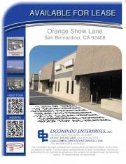 Brochure of 320 through 368, orange show lane, San Bernardino, CA 92408