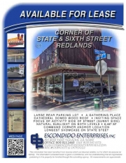 Brochure of office space located at 129 E. State St, Redlands, CA, 92373